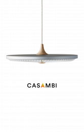 SOLEIL Small Papir Silver Cloud med CASAMBI lysdæmper