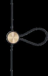 Cord Adjuster Sort/Messing