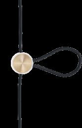Cord Adjuster Hvid/Messing